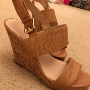 Nine West Nude Wedge